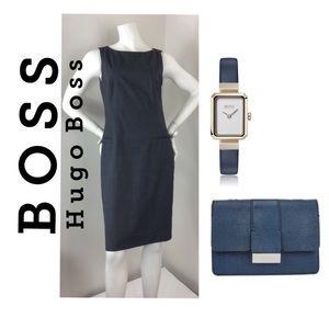 BOSS Hugo Boss Slim-fit dress in stretch fabric